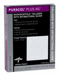 Wound Care DRESSING, COLLAGEN, PURACOL PLUS AG, 2X2